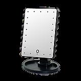 Зеркало с подсветкой для макияжа Led Mirror Черное, фото 3