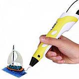 3D ручка c LCD дисплеем Kronos 3D Pen-2 Желтая (tps_200-19820491), фото 2