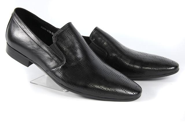 Летние мужские классические кожаные туфли LOUIS ALBERTI 3003  40  черный