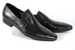 Летние мужские туфли LOUIS ALBERTI 3003  40  черный