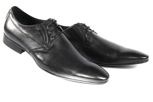 Стильные мужские классические кожаные туфли на шнуровке LOUIS ALBERTI F702-9P  скидка