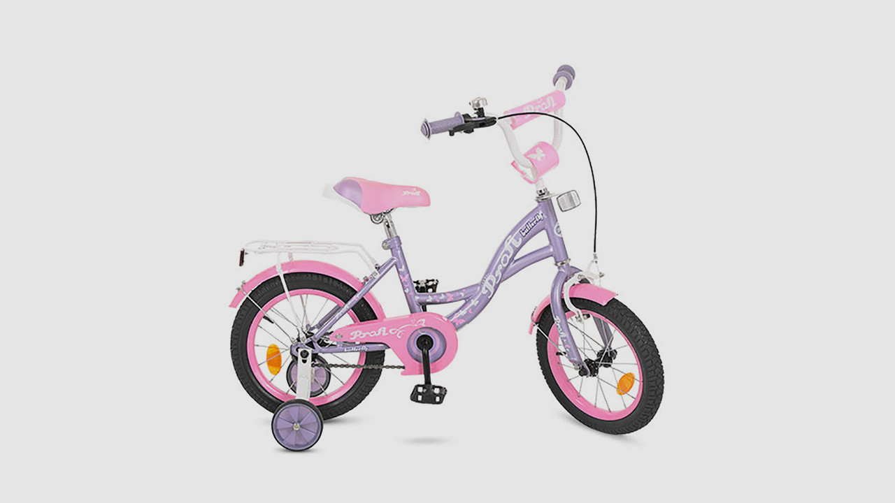 Велосипед дитячий PROF BUTTERFLY. 16 дюймові колеса. Фіолетовий