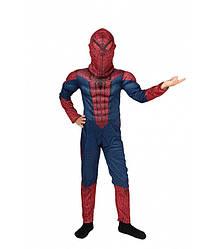 Детский карнавальный костюм ЧЕЛОВЕК ПАУК на 3,4,5,6,7,8,9 лет, детский маскарадный костюм СПАЙДЕРМЕНА