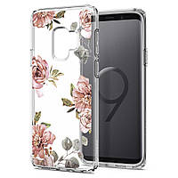Чехол Spigen для Samsung S9 Liquid Crystal Blossom, Flower, фото 1