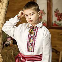 Вышиванка для мальчика (ручная робота, 1-12 лет, домотканная ткань), фото 1