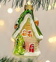 Формовые новогодние игрушки Домик в снегу