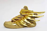 Кроссовки женские золотистые Adidas Originals by Jeremy Scott JS  Wings 3.0. размер 40
