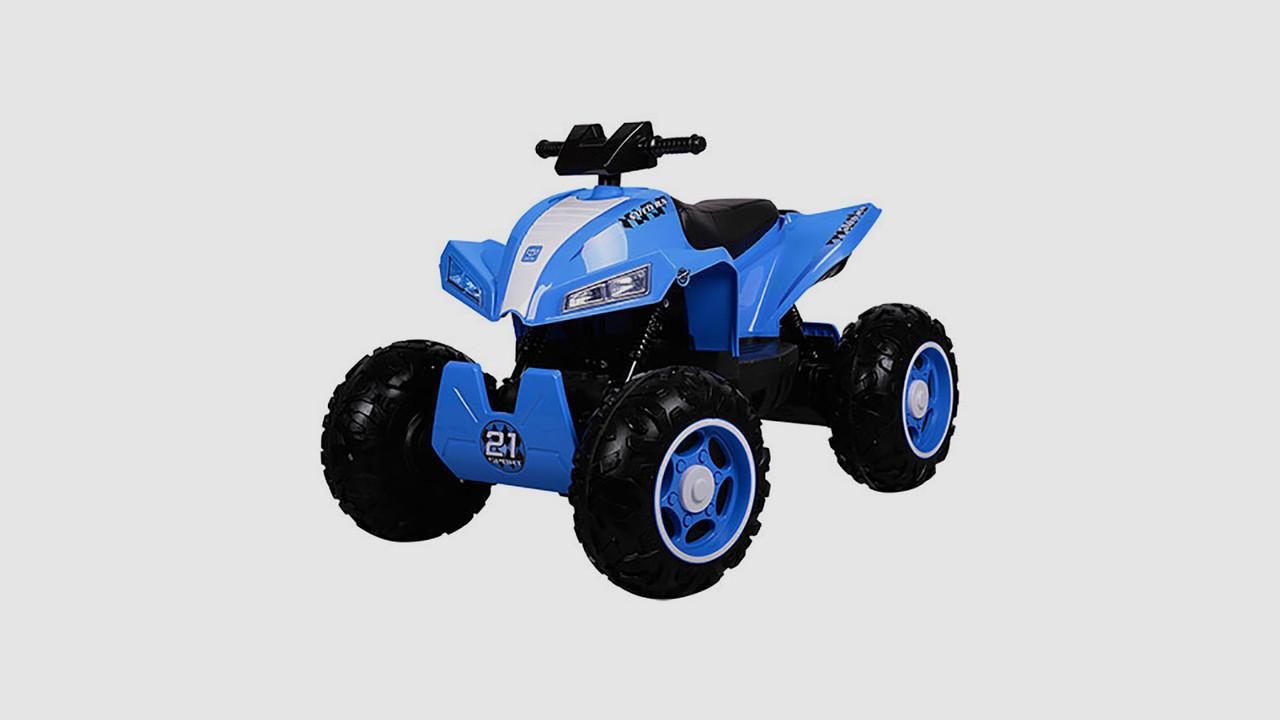 Электромобиль квадроцикл BAMBI. Колеса EVA. Кожаное сидение. Синего цвета