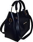 Женская синяя сумка с клачем Michael Kors (24*28*14), фото 3