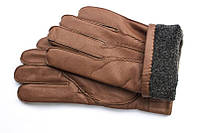 Мужские зимние перчатки в коричневом цвете