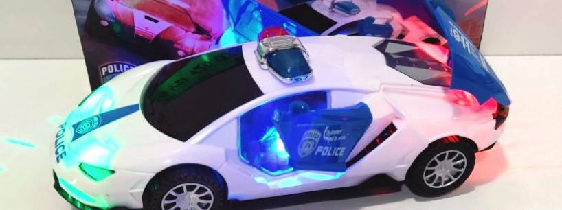 "Игрушка ""SuperCar POLICE""  светящаяся на батарейках , фото 2"
