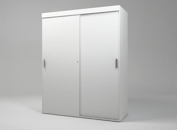 Шкаф гардеробный офисный с раздвижными фасадами KBS