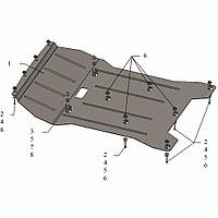 Kolchuga Защита двигателя и радиатора на BMW X3 (F25) '10-17 Standart