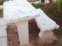 Стол лавка бетонные №38