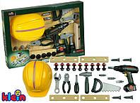 Детский набор инструментов с с каской и шуруповертом BOSCH Klein 8418 , фото 1
