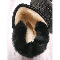 Ботинки детские зимние с мехом PU-кожа Baotou серебристые, фото 3