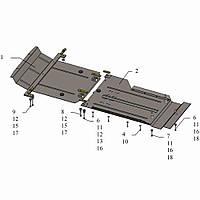 Kolchuga Защита двигателя, КПП и радиатора на BMW X5 (F15) '13- Standart