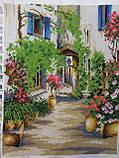 """Картина вышита бисером """"Уютный дворик"""", ручная работа, 34х26 см, 850, фото 2"""