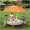 Стол-песочница с зонтом и зоной для воды Little Tikes 401N