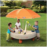 Стол-песочница с зонтом и зоной для воды Little Tikes 401N, фото 1