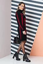 Платье вязаное вышиванка шерстяное теплое размер 44-50, фото 2