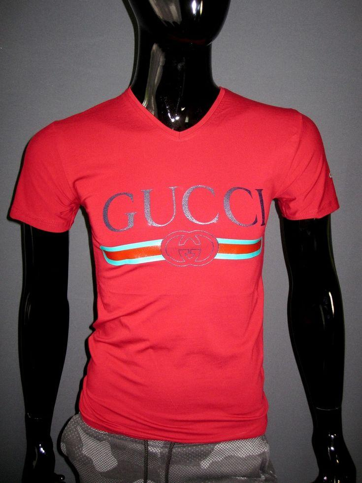 4317861a4fd Мужская бордовая футболка Gucci мыс