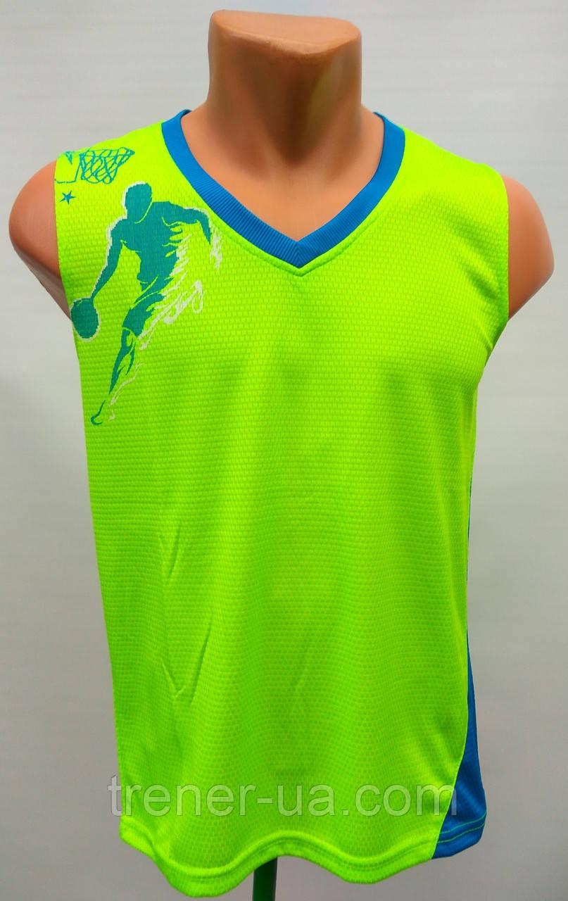 Форма баскетбольная подростковая NBA салатовый-голубой