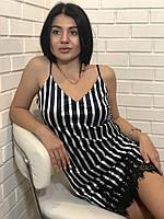 Велюровое платье пеньюар в полоску на 46-48, фото 1