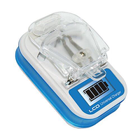 Универсальное зарядное устройство (лягушка, жабка, краб) с LCD дисплеем синий, фото 1