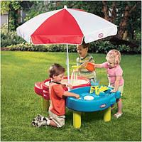 Стол-песочница с зонтом и зоной для воды Little Tikes 401L