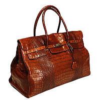 0b3267115539 Эксклюзивная кожаная дорожная сумка - женская - Сумка с рисунком кожи№: 06,  07