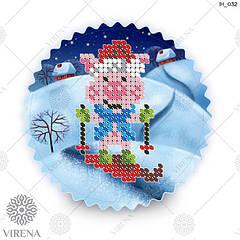 ІН_032.Схема для вишивки бісером Новорічна іграшка