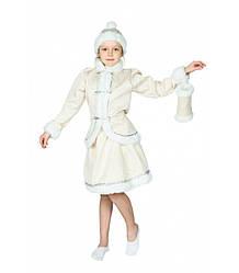 Карнавальный костюм СНЕГУРОЧКА для девочки 4,5,6,7,8,9 лет детский новогодний костюм СНЕГУРОЧКИ