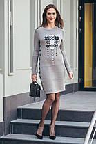 Платье вязаное вышиванка  с орнаментом шерстяное теплое размер 42-48, фото 3
