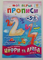 Пропись. Мої перші прописи. Цифри та лічба Від 1 до 5 102699 Зірка Украина
