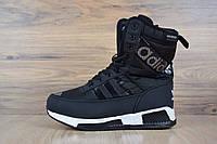 Зимние спортивные женские ботинки в стиле Adidas, черные