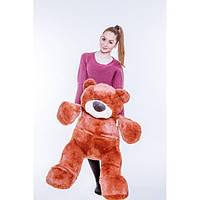 Мягкий Плюшевый Медведь Бублик 110 см коричневый