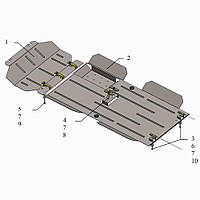 Kolchuga Защита двигателя, КПП, радиатора, раздатки и редуктора на Great Wall Wingle 6 '16- (V-2,0D) Standart