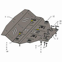 Kolchuga Защита радиатора и частично двигателя на BMW X3 (E83) '03-10 Standart