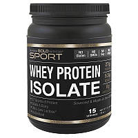 Протеин безлактозный сывороточный , без ароматизаторов,без сахара, 90% белка,  454г, США