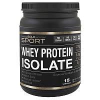 Протеин безлактозный сывороточный,без ароматизаторов,без сахара, 90% белка,454г, США,California Gold Nutrition