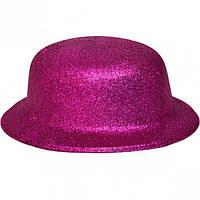 Карнавальні капелюхи (підліткові) Вечірка. Блискітки Малиновий