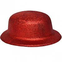 Карнавальні капелюхи (підліткові) Вечірка. Блискітки Червоний