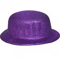 Карнавальні капелюхи (підліткові) Вечірка. Блискітки Фіолетовий