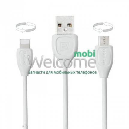 Combo кабель Remax Lesu RC-050t Lightning (для iPhone),micro USB, 2m white, фото 2