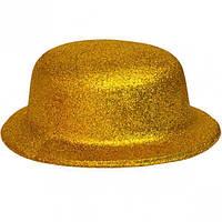 Карнавальні капелюхи (підліткові) Вечірка. Блискітки Золотий