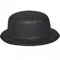 Карнавальні капелюхи (підліткові) Вечірка. Блискітки Чорний