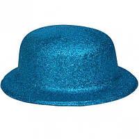 Карнавальні капелюхи (підліткові) Вечірка. Блискітки Блакитний