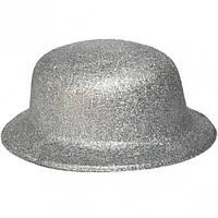 Карнавальні капелюхи (підліткові) Вечірка. Блискітки Срібло