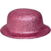 Карнавальні капелюхи (підліткові) Вечірка. Блискітки Рожевий